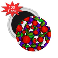 Peaches And Plums 2 25  Magnets (100 Pack)  by Valentinaart