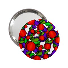 Peaches And Plums 2 25  Handbag Mirrors by Valentinaart