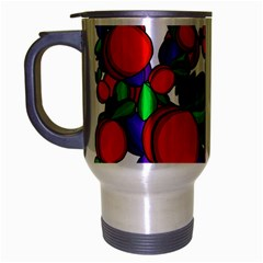 Peaches And Plums Travel Mug (silver Gray)