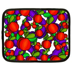 Peaches And Plums Netbook Case (xxl)  by Valentinaart