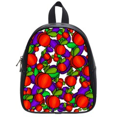 Peaches And Plums School Bags (small)  by Valentinaart