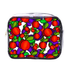 Peaches And Plums Mini Toiletries Bags by Valentinaart