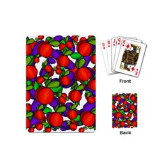 Peaches And Plums Playing Cards (mini)  by Valentinaart