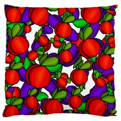 Peaches And Plums Large Cushion Case (two Sides) by Valentinaart