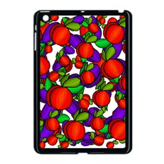 Peaches And Plums Apple Ipad Mini Case (black) by Valentinaart