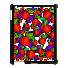 Peaches And Plums Apple Ipad 3/4 Case (black) by Valentinaart