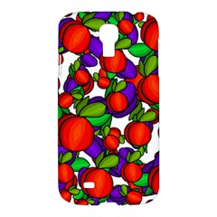 Peaches And Plums Samsung Galaxy S4 I9500/i9505 Hardshell Case by Valentinaart