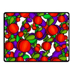 Peaches And Plums Double Sided Fleece Blanket (small)
