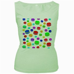 Macaroons Women s Green Tank Top by Valentinaart