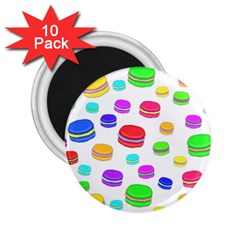 Macaroons 2 25  Magnets (10 Pack)  by Valentinaart