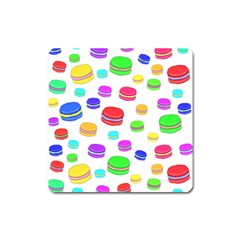 Macaroons Square Magnet by Valentinaart