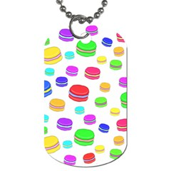 Macaroons Dog Tag (two Sides) by Valentinaart