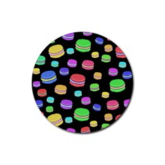 Colorful Macaroons Rubber Round Coaster (4 Pack)  by Valentinaart
