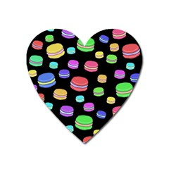 Colorful Macaroons Heart Magnet by Valentinaart