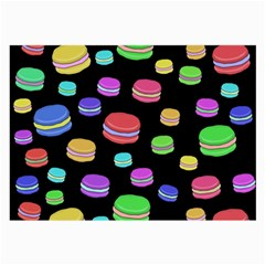 Colorful Macaroons Large Glasses Cloth (2 Side) by Valentinaart