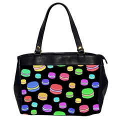 Colorful Macaroons Office Handbags (2 Sides)  by Valentinaart