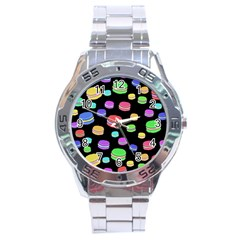 Colorful Macaroons Stainless Steel Analogue Watch by Valentinaart