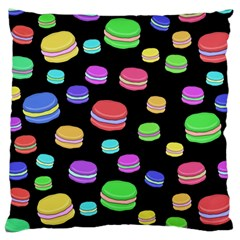 Colorful Macaroons Large Cushion Case (one Side) by Valentinaart