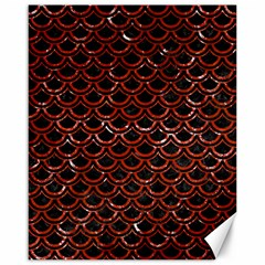 Scales2 Black Marble & Red Marble Canvas 16  X 20  by trendistuff