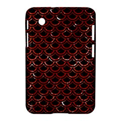 Scales2 Black Marble & Red Marble Samsung Galaxy Tab 2 (7 ) P3100 Hardshell Case  by trendistuff