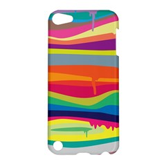 Colorfull Rainbow Apple Ipod Touch 5 Hardshell Case by Jojostore