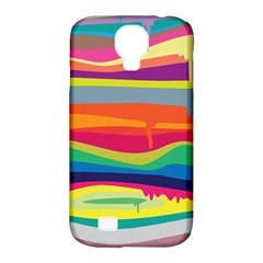 Colorfull Rainbow Samsung Galaxy S4 Classic Hardshell Case (pc+silicone)