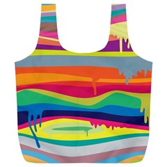 Colorfull Rainbow Full Print Recycle Bags (l)