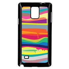 Colorfull Rainbow Samsung Galaxy Note 4 Case (black)