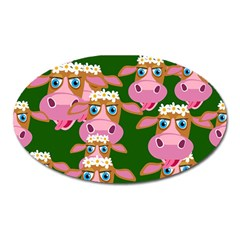 Cow Pattern Oval Magnet