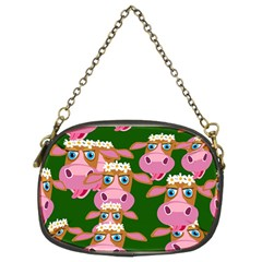 Cow Pattern Chain Purses (two Sides)  by Jojostore