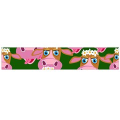Cow Pattern Flano Scarf (large) by Jojostore