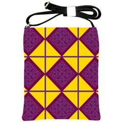 Complexion Purple Yellow Shoulder Sling Bags by Jojostore