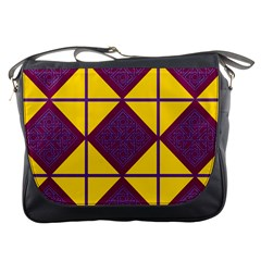Complexion Purple Yellow Messenger Bags