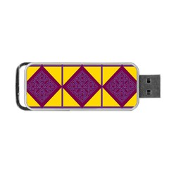 Complexion Purple Yellow Portable Usb Flash (one Side) by Jojostore