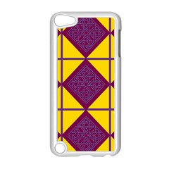 Complexion Purple Yellow Apple Ipod Touch 5 Case (white)
