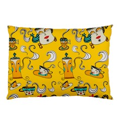 Caffe Break Tea Pillow Case (two Sides)