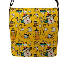 Caffe Break Tea Flap Messenger Bag (l)  by Jojostore