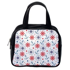 Compass Anchor Classic Handbags (one Side) by Jojostore