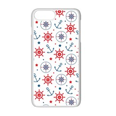 Compass Anchor Apple Iphone 7 Plus White Seamless Case