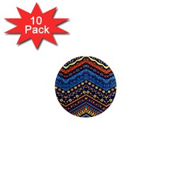 Cute Hand Drawn Ethnic Pattern 1  Mini Magnet (10 Pack)  by Jojostore
