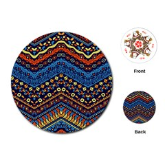 Cute Hand Drawn Ethnic Pattern Playing Cards (round)  by Jojostore