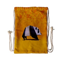Cute Panda Drawstring Bag (small) by Jojostore
