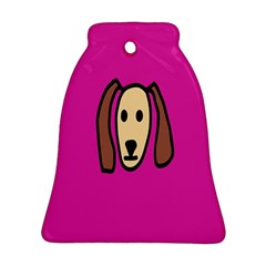 Face Dog Bell Ornament (2 Sides)