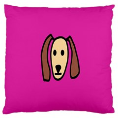 Face Dog Standard Flano Cushion Case (one Side) by Jojostore