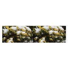Snow On A Shrub Satin Scarf (oblong)