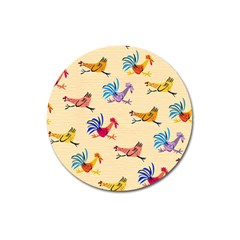 Chicken Magnet 3  (round) by Jojostore