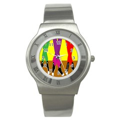 Foot Dance Stainless Steel Watch by Jojostore