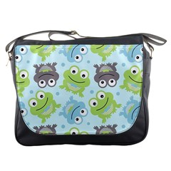 Frog Green Messenger Bags