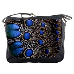Feathers Peacock Light Messenger Bags