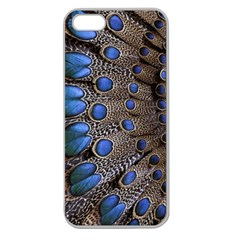 Feathers Peacock Light Apple Seamless Iphone 5 Case (clear) by Jojostore